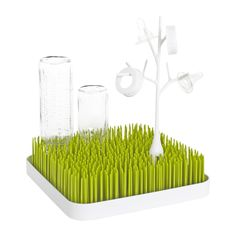 Something like this is necessary to dry all the baby bottles and pacifiers, etc. This one is cute and we liked it!  Get the paci tree too for little parts.  Amazon.com : Boon Grass Countertop Drying Rack, Green : Baby Bottle Drying Racks : Baby