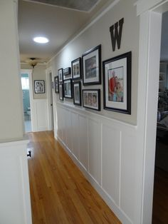 Wainscoting adds character and charm to a hallway