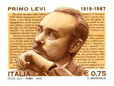 Francobollo commemorativo di Primo Levi, emesso nel 25° anniversario della scomparsa (2012).