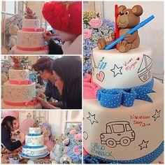 """""""Ideia maravilhosa!!! Um bolo para todos os presentes nesse evento deixarem sua assinatura!! @chicozinneck você arrasa!!!! #diadascriancas…"""""""