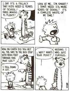 Calvin and Hobbes by Bill Watterson, December Calvin And Hobbes Comics, Best Calvin And Hobbes, Calvin And Hobbes Quotes, Cute Comics, Funny Comics, Anime Crafts, Cartoon Network Adventure Time, Adventure Time Anime, Funny Cartoons