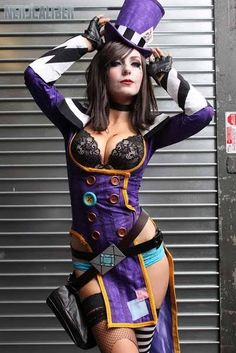Borderlands 2 Mad Moxxi cosplay costume purple outfit - CSddlink cosplay. Just for reference.