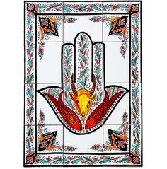 Handcrafted Moroccan Oxidize Brass Hand of Fatima Wall Mirror Frame Hamsa