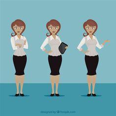 Businesswoman illustration Free Vector