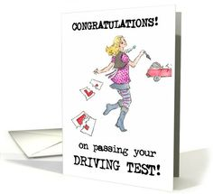 Driving Test Congratulations Card for Niece card. Personalize any greeting card for no additional cost! Cards are shipped the Next Business Day. Product ID: 788426 Passed Driving Test, Room Colors, Colours, Cricut Explore Projects, New Drivers, Congratulations Card, Greeting Cards, Popular, Roses