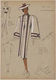 The Costume Coat Pearl Levy -- Designer