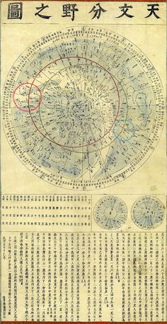 天文分野之図 star map