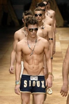 Prepare to walk the catwalk in bizarre outfits or in this case, hardly anything at all. Many male models are asked to do work in just boxers so the best way to be prepared for this is to be in good shape and to have great body confidence. Read 9 other tips for male models here.