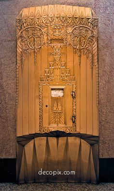 bell telephone mail box, newark, new jersey.....Decopix - The Art Deco Architecture Site - Art Deco Metalwork Gallery
