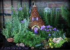 """I thought I would never get all the pinecone scale-shingles cut and glued on...  the whimsical little """"Curly-Q"""" of a stem was saved from one of our fall pumpkins..."""