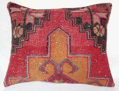 Beautiful Muted colour Oushak carpet pillowLumbar by privcollector