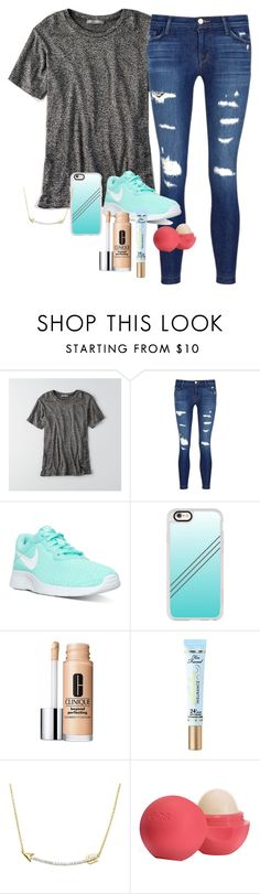 """I Have to Get My HPV Shots Tomorrow😬"" by emhnatko ❤ liked on Polyvore featuring American Eagle Outfitters, J Brand, NIKE, Casetify, Clinique, Too Faced Cosmetics, Jewel Exclusive and Eos"