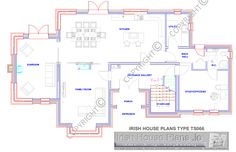ts066-gflr.gif 1,271×822 pixels House Extension Ireland, Future House, My House, House Designs Ireland, Country House Design, Family House Plans, Ground Floor Plan, House Extensions, Building A House
