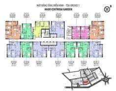 Mặt bằng chi tiết căn hộ tòa Orchid 1 và Orchid 2 Hà Đô Centrosa Garden