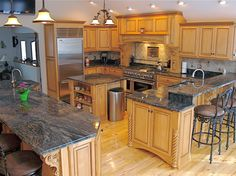 Kitchen (Cocoa Blue) Granite Countertops
