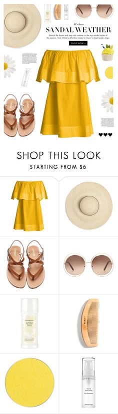 """Straw Hat (group contest)"" by buflie ❤ liked on Polyvore featuring Apiece Apart, Chloé, Elizabeth Arden, ittse, Chantecaille and NARS Cosmetics"