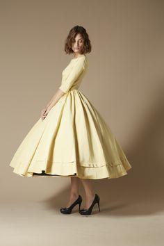 Robe jaune beurre frais Yves. #Modest doesn't mean frumpy! #DressingWithDignity on.fb.me/1lfqxT2