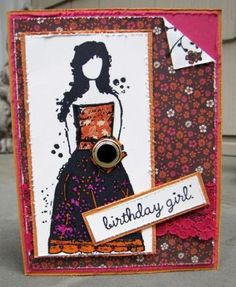 Birthday Girl - Birthday Card by Riacreations for $4.00