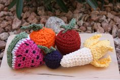 Crochet food great for play kitchen