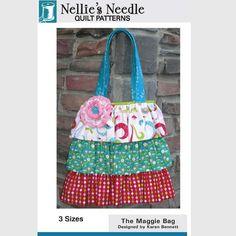 New Maggie Bag Pattern Designed by Karen Bennett for Nellie's Needle So Cute
