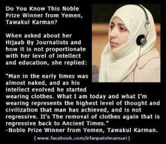 Hijab represents the highest level of thought and civilization that man has achieved