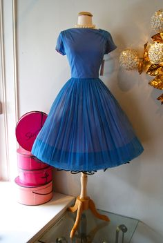 Vintage 1960's Dress // 60's Hydrangea Garden by xtabayvintage, $198.00