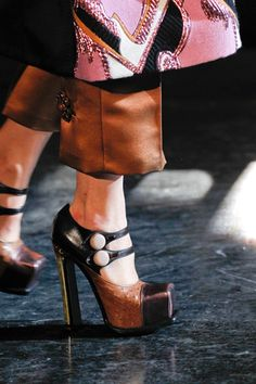 Miu Miu.... Love the style maybe not the colours... Sitting shoes only ;)