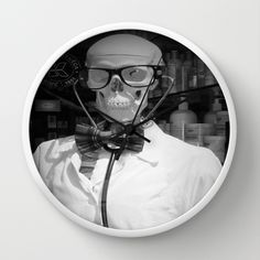 *Mad Doc* Wall Clock Now on Sale Arte Cluster Shop @Society6 I Arte Cluster *Awareness through Art* I Thanks for your support