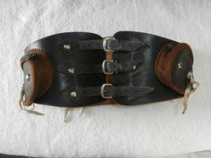 Finely Handcrafted Motorcycle kidney belt, Medieval, Renaissance & Fantasy Leather wear     Sturdy, Durable Cowhide Leather    Marked inside
