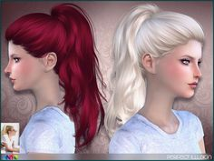 Sims 4 Hairs ~ The Sims Resource: Perfect Illusion by Anto – Hair Style Sims 4 Tsr, Sims Cc, All Hairstyles, Ponytail Hairstyles, Female Hairstyles, Wavy Ponytail, Lady Gaga, Perfect Illusion, Medium Hair Styles