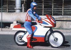 Captain America publicity still of Reb Brown