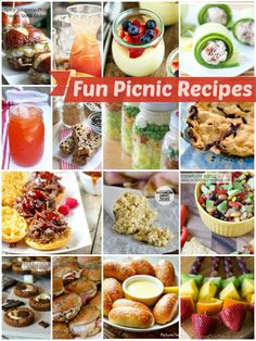 Fun Picnic Recipes -- love these!