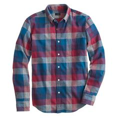 Brushed twill shirt in heathered plaid - Brushed Twill Shirts - Men's shirts - J.Crew