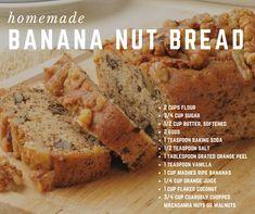 Banana bread makes a sweet breakfast or any-time treat.