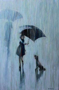 Art And Illustration, Art Illustrations, Umbrella Art, Umbrella Painting, Ouvrages D'art, Wow Art, Gustav Klimt, Pics Art, Art Design