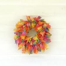 yellow rag wreath