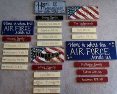 """Really, really want this for my daughter!! """"Home is where the Navy sends my daughter and her husband"""" on smaller board with flag."""