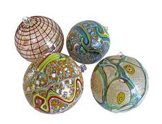 Beautiful Murano glass decorations, offered by Paola Bazzoli. #Christmas #Decorations #Giftidea #Christmasgift #Muranoglass