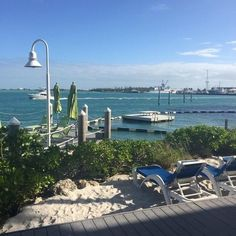 #relax by the #ocean in these comfy #loungechairs and watch the #worldgoby #hyatt #keywest #vacation