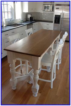 Narrow Kitchen island Table - Narrow Kitchen island Table, 20 Re Mended Small Kitchen island Ideas On A Bud Long Narrow Kitchen, Narrow Kitchen Island, Kitchen Island Table, Kitchen Island With Seating, White Kitchen Table Set, Small Kitchen Tables, Modern Kitchen Cabinets, Kitchen Layout, Design Kitchen