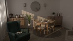 Old living rom in new style - designed by KLIMAT Living Room Designs, Living Rooms, Dining Table, Fashion Design, Furniture, Home Decor, Style, Lounges, Swag