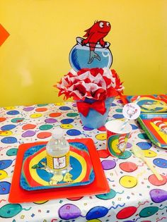 Melissa F's Birthday / Dr Seuss - Photo Gallery at Catch My Party Dr Seuss Birthday Party, 2nd Birthday, Birthday Ideas, Birthday Parties, Thing 1 Thing 2 Party, School Projects, Baby Boy Shower, First Birthdays, Party Ideas