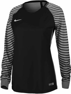 cb72024219e8 Buy the Nike Womens Gardien Goalkeeper Jersey in Black   Cool Grey and look  great as