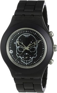 Swatch Men's Full-Blooded Watch SVCF4001AGBlack Skull