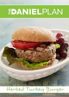 RePin This if you would like a taste of this Turkey Burger.  This Burger can be found in the Daniel Plan Cookbook. #HealthyEating  http://store.danielplan.com/the-daniel-plan-cookbook/