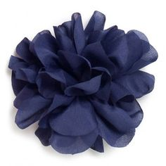 Flor de tela color Navy.