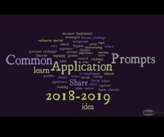 Common Application Prompts 2018-2019