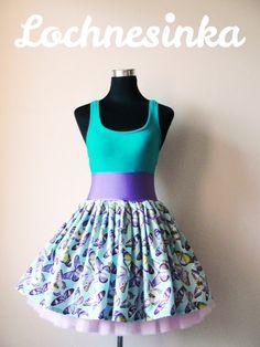 Sukýnka NESSIE DOT kolová no.12 motýlci Bloom, Dots, Summer Dresses, Fashion, Stitches, Moda, Summer Sundresses, Fashion Styles, Fashion Illustrations