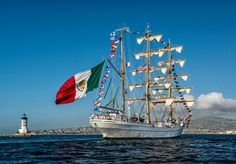 Tall ship Cuauhtémoc visits Los Angeles from Mexico
