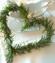 Rosemary Heart ~  simple pleasures, using things from the garden to decorate your home.